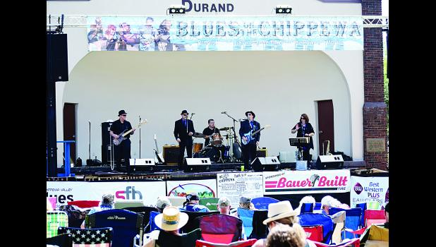 The Mark Cameron Band performs during the 2016 Blues on the Chippewa event, held in Durand's Memorial Park. Laura Berndt file photo