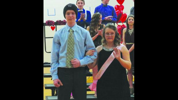 Sophomore  Snoball Royalty Felix Vierthaler and Abbie Potter