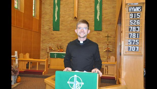 Pastor Scott Johnson took command of the pulpit at Mondovi's Zion Lutheran Church in late September. A west central Wisconsin native, Johnson and his family spent the past five years in Hillsdale, Mich., and are excited to get to know the Mondovi community.