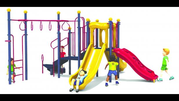 The Mondovi Lions Club recently purchased a play structure similar to this rendering to add alongside existing equipment at Lions Park, located on E. Water St. The club's upcoming Chili and Grilled Cheese Supper seeks to raise the funds needed to install the equipment at the park.