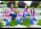 The 2014 Kellogg Watermelon Festival Royalty is about to see its year as reigning royalty come to an end. Watermelon Festival Pageant committee members are currently seeking candidates to run for the 2015 KWF Queen crown. Details can be found on the Kellogg Page this week. Pictured here sitting near the City Fountain in Wabasha earlier this week are the 2014 royalty, from left: Miss Congenialty Ryanne Baker, 2nd Princess Megan LaVigne, Queen Hannah Iverson-Jones, 1st Princess Kylie Passe and 3rd Princess La