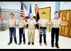 Above are Christian Wolter, Preston Sires, Boden Thorland, James Colman and Nathaniel Storm, who attended their Arrow of Light and Crossover ceremonies on Sunday, January 25th. This means that these boys have completed the transition from Cub Scouts to Boy Scouts. Not pictured is Calvin Zickrick, who has also become a Boy Scout.