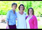 From left to right are Erin Smith, MSCCC-SLP; Britany Konsela, PTA; and Tricia Martin, PTA. Anna Rinholen, OTD, is not pictured.  Laura Berndt photo