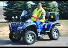 Stressing safety at the classes is a key issue for Jim Bartz.  Jim is pictured above on his ATV and has been an instructor for the DNR for 10 years now.  In addition to being an instructor, Jim and his wife are Trail Ambassadors for the DNR.  Photo by Cheryl Nymann