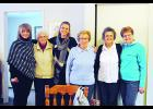 Eva Schloss, a survivor of the Holocaust and the stepsister of Anne Frank, visited Durand on January 9.  Cheri Weiss, Bernice Traun, Tami Weiss, Eva Schloss, Doris Weiss, and Shirley Boigenzahn pose for a photo in Durand. Laura Berndt photo