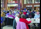 The Winona County Old Settlers group met for their annual gathering at the Winona Middle School on Saturday, February 4th with over 260 people in attendance.  Winona County Recorder Bob Bambenek was the Master of Ceremonies.  Photo by Carol Boynton